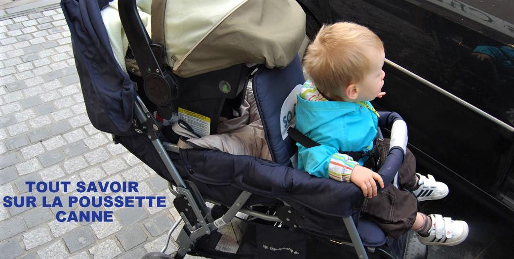Quand mettre bébé dans une poussette canne ?