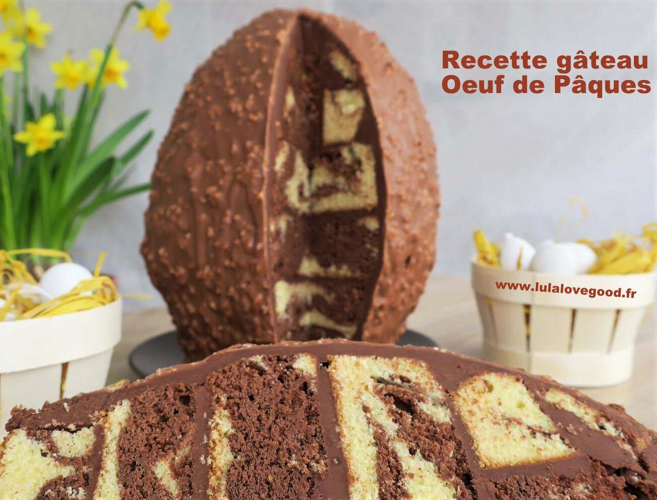 Faire un gâteau en forme d'oeuf de Pâques
