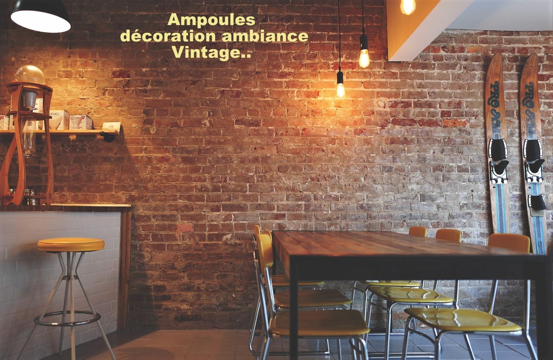 Créer une décoration vintage grâce à l'ampoule LED E27