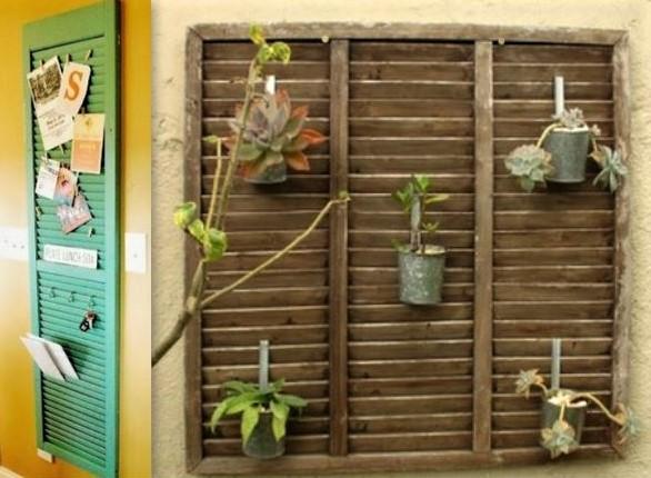 Déco et recyclage de vieux volets et persiennes en bois !