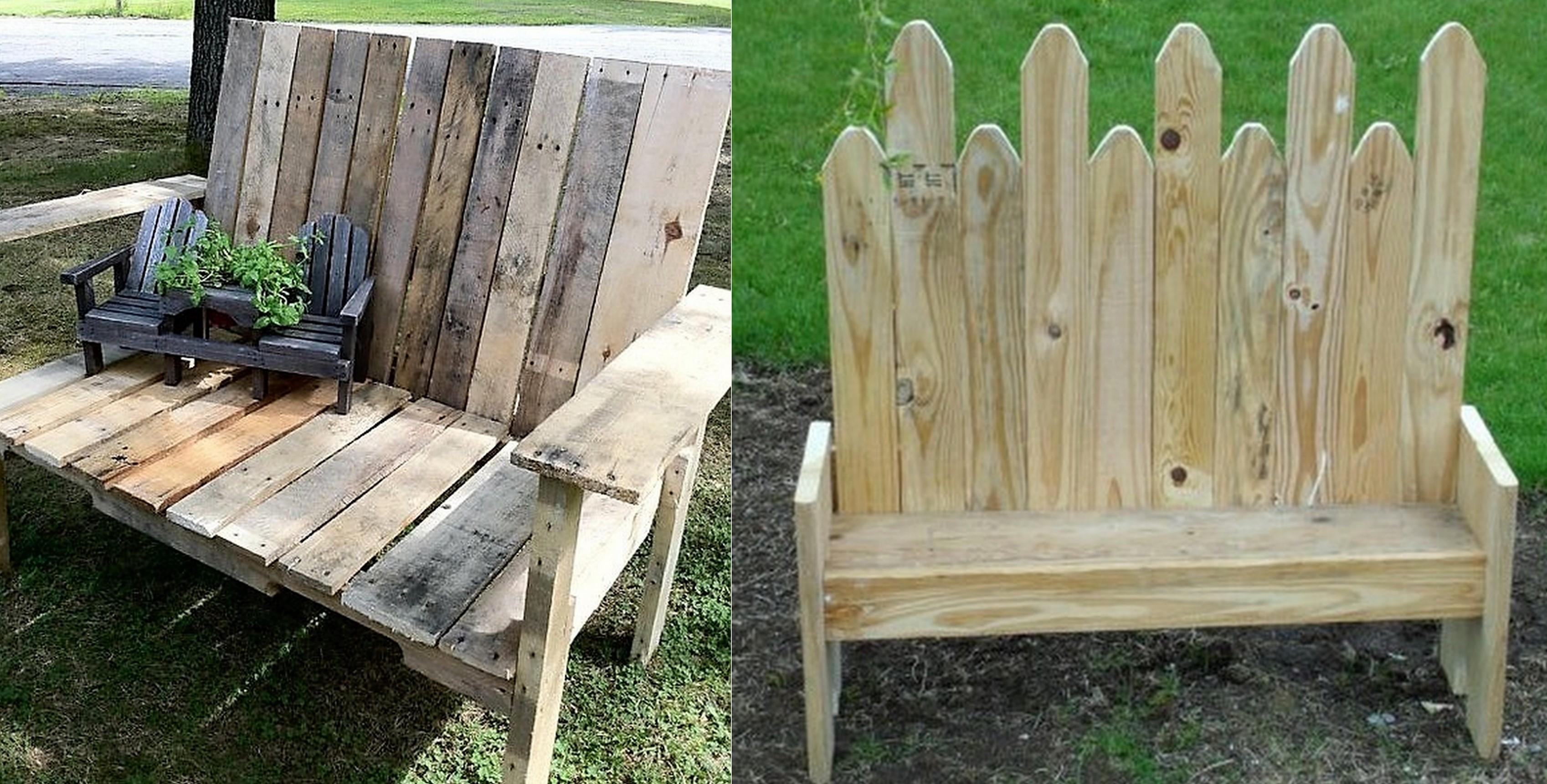 De jolis bancs en bois, faits maison pour le jardin !
