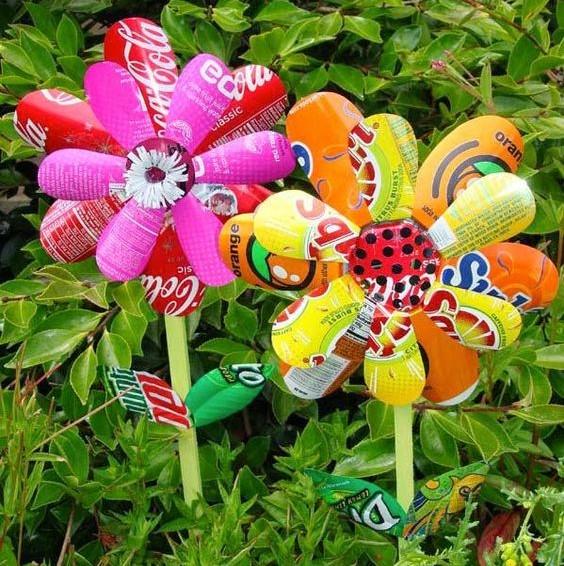 Faire de fausses fleurs pour égayer le jardin