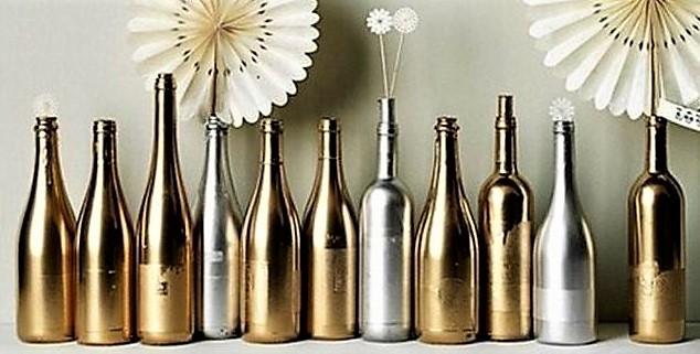 Peindre des bouteilles en verre