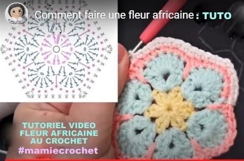 TUTORIELS Crochet : Faire une fleur africaine