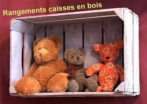 Rangements casiers caisses bois