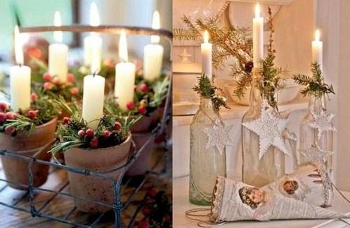 Idées décorations bougies de Noël