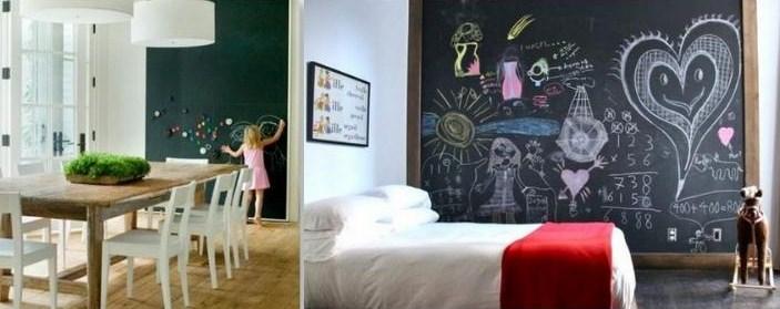 Idées déco peinture ardoise et tableau noir