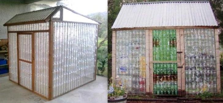 Un Concept Qui Se Dveloppe De Plus En Plus Cuest De Construire Soi Mme Sa  Serre Ou Son Abri De Jardin Avec Des Bouteilles En Plastique.