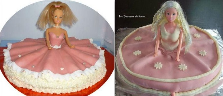 De jolis gâteaux poupée à voir ou à faire