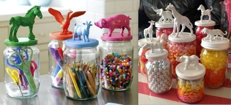 Id es recyclage et d tournement de figurines Objets pour decorer votre bureau
