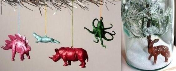 Id es recyclage et d tournement de figurines for Decoration de noel pour enfant