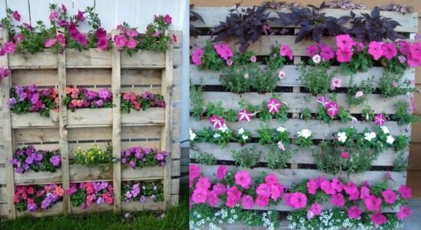 Recycler une palette en jardini re pour le jardin - Plantes pour jardinieres exterieures ...