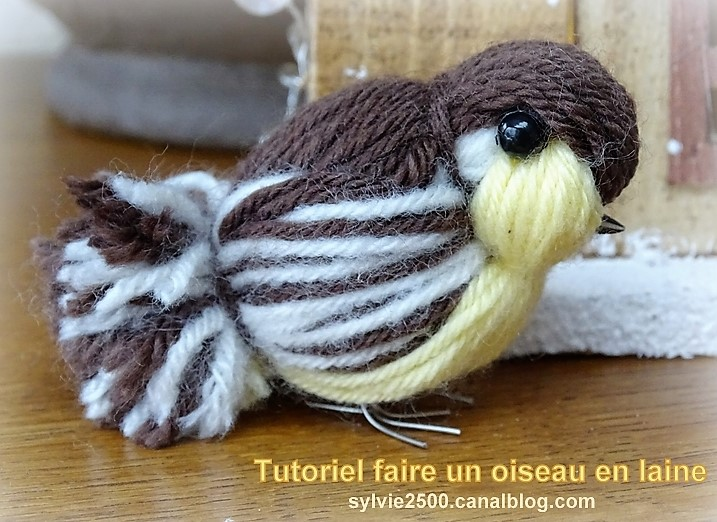 tutoriel faire un oiseau en laine. Black Bedroom Furniture Sets. Home Design Ideas
