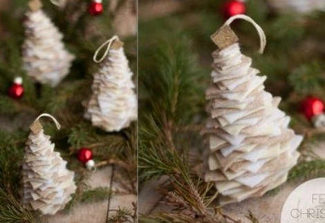 Tutoriels pour faire de petits sapins de Noël en feutrine
