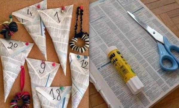 Faire un Calendrier de l'Avent, modèles et tutoriels recyclage