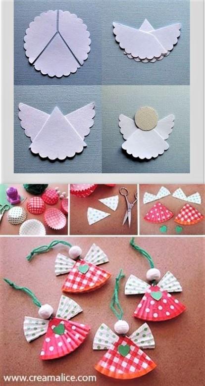 Faire des anges de Noël pour décorer le sapin, facile et pas cher