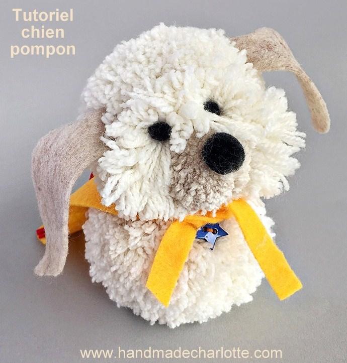 Tutoriel faire un chien avec des pompons en laine - Quoi faire avec des pompons ...