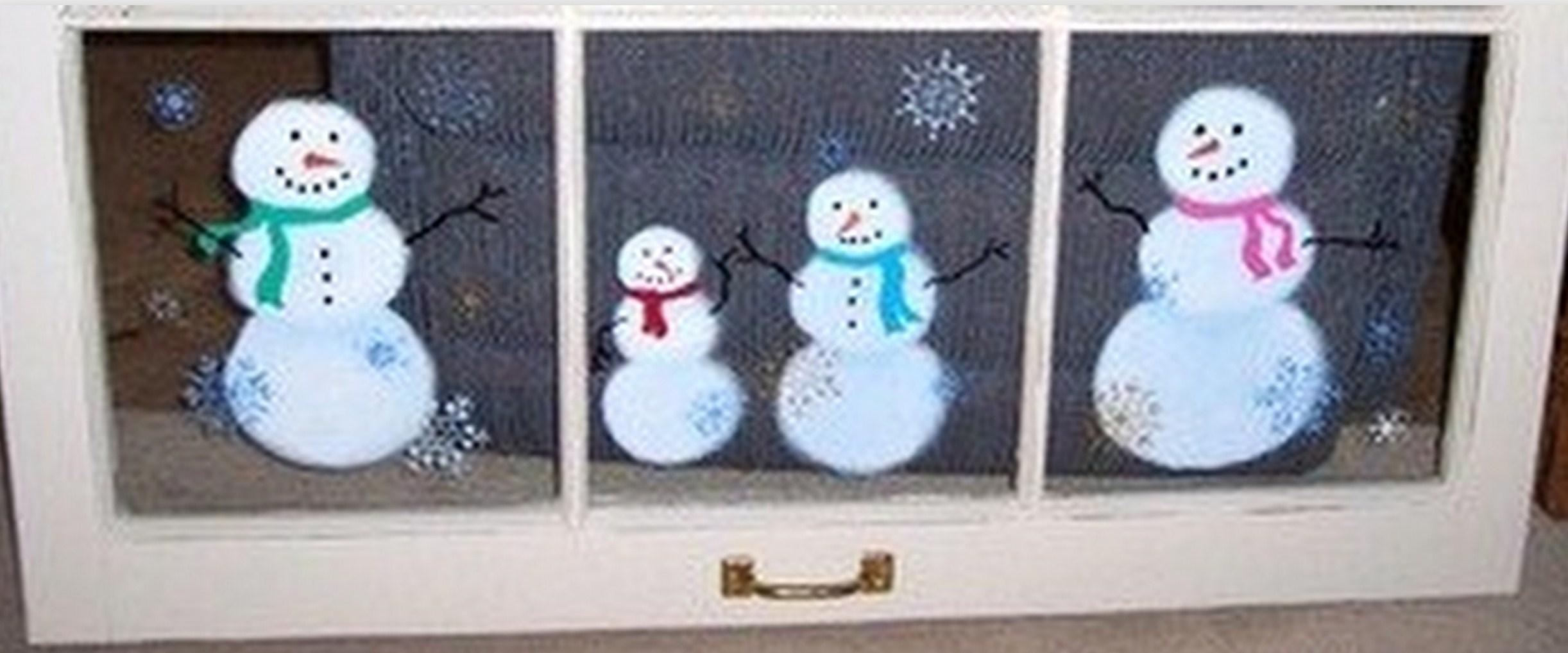 Peintures de no l sur vitres et fen tres mod les et tutos - Decoration de fenetre pour noel ...