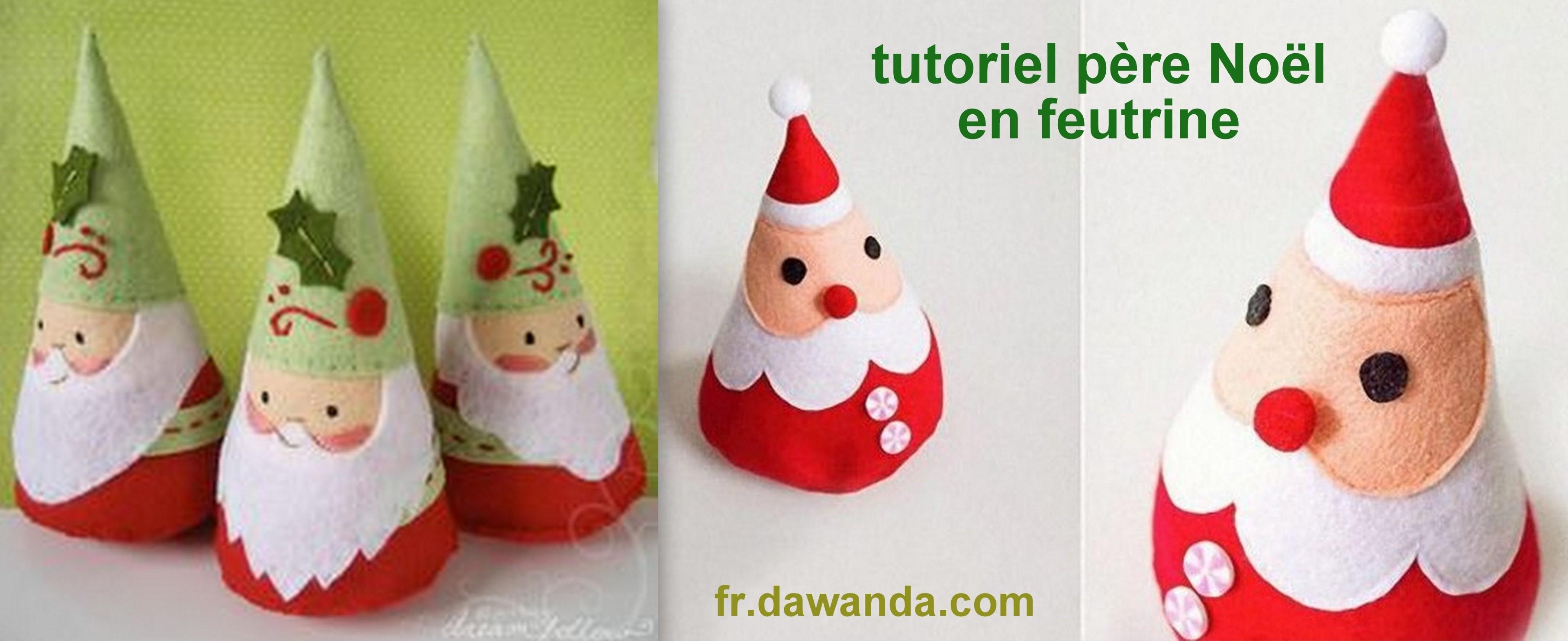#B6151C Faire Un Père Noël En Feutrine Des Modèles Des Tutos 6097 décoration de noel tuto 3623x1481 px @ aertt.com