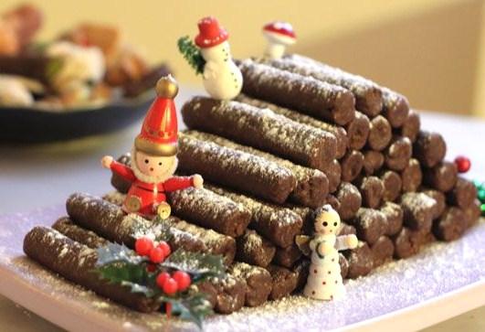 6 recettes Bûches de Noël au chocolat