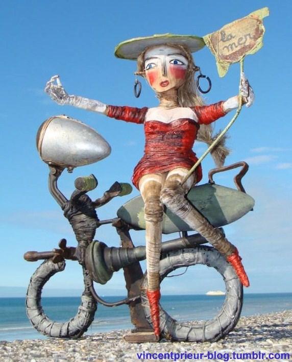 Art et recyclage, les superbes créations de Vincent Prieur