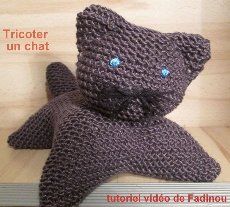 tutoriel vid o tricoter un chat. Black Bedroom Furniture Sets. Home Design Ideas