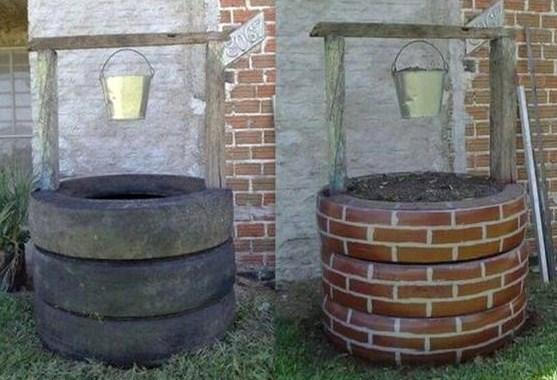 Faire un puits avec des pneus