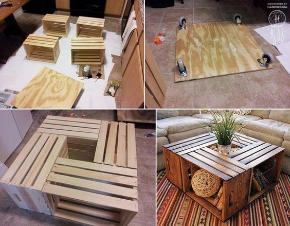 Tables Basses Cagettes En Bois