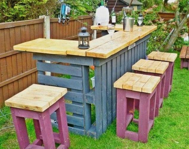 Bars Extérieurs En Bois De Palette