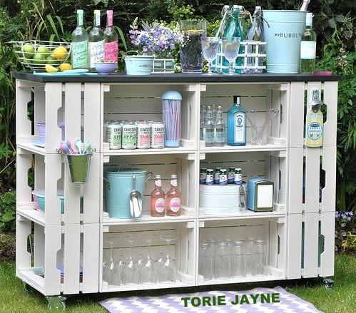 Modèles bars de jardin, réalisés en bois de palettes