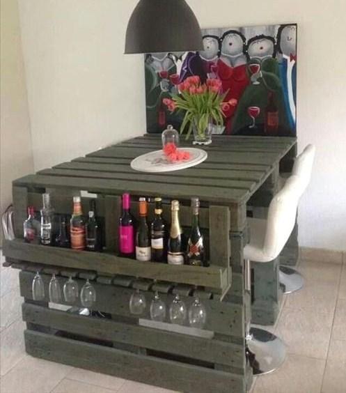 Mod les bars ext rieurs en bois de palette page 3 - Botelleros de madera rusticos ...