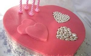 Faire un joli gâteau pour la St Valentin