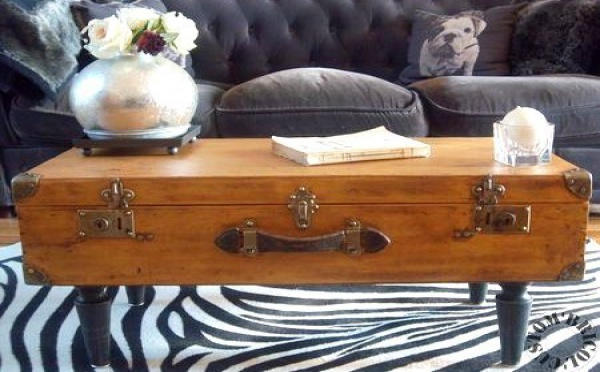 Customiser une vieille table basse en bois - Idee table basse recup ...