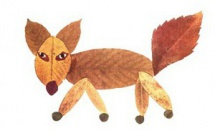 Collages feuilles mortes animaux