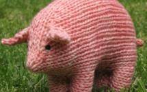 Doudous animaux laine tricotée