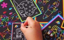 Faire des feuilles de papier dessin à gratter
