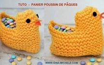 TUTO corbeille poussin de Pâques au tricot