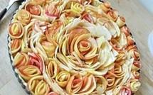 """Une Tarte aux pommes """"bouquet de roses"""" !"""