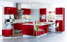 Et pourquoi pas une cuisine équipée Rouge ?