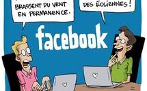 Humour, Facebook et la vraie vie
