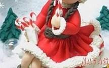 Tuto fille du Père Noël en porcelaine froide !