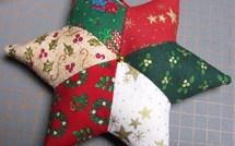 Faire une étoile de Noël patchwork en tissu