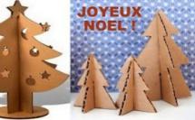 Faire un Sapin de Noël en carton, des tutos