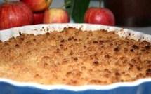 Crumble aux pommes, les recettes