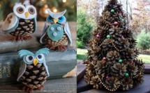 Idées Décorations de Noël en pommes de pin