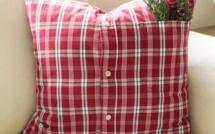 Faire des coussins chemises, tutos et diy