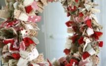 Tutos couronnes de Noël récup tissu