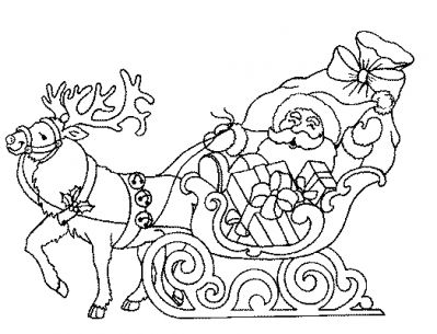 Coloriage pere noel renne pere noel galerie nafeuse - Renne coloriage ...