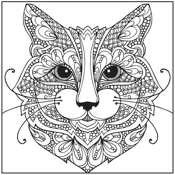 【Le plus aimé】 Coloriage Tete De Chat