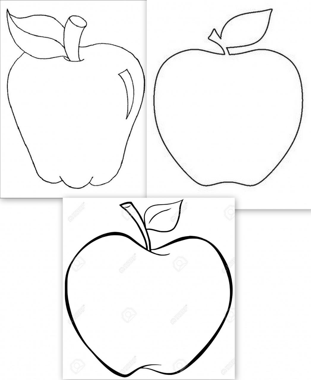 Dessins grosses pommes gabarits fruits galerie - Dessin pomme a colorier ...